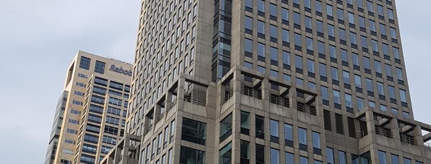 20190607 065432 e1559982788861 845x321 - 28ste etage Rembrandttoren Amsterdam, 415m2 vloerafwerking geleverd en aangebracht.