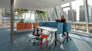 Blaak House 2 300x169 - Kantoor Colliers International Blaak Rotterdam. 600 m2 vloerafwerking plus div. kleden van Interface en Ege carpets geleverd en gelegd.