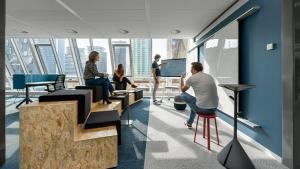 Blaak House 3 300x169 - Kantoor Colliers International Blaak Rotterdam. 600 m2 vloerafwerking plus div. kleden van Interface en Ege carpets geleverd en gelegd.
