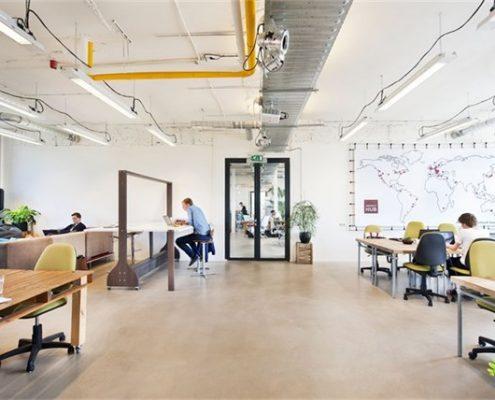 betonlook vloer bij The Impact HUB te Amsterdam 495x400 - Projecten
