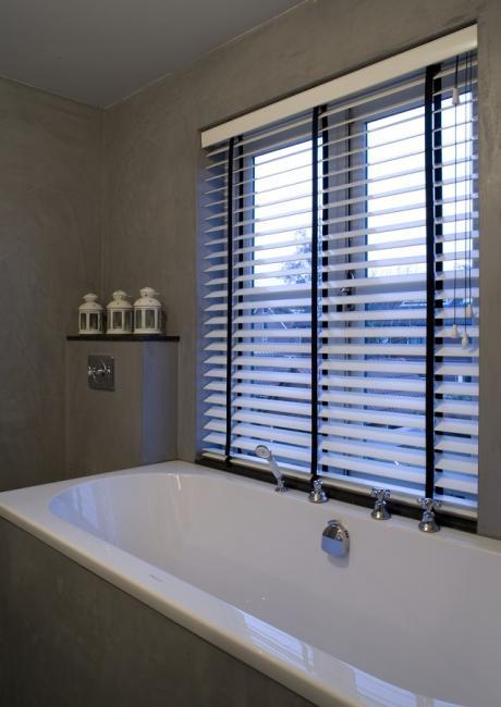 jasno blinds wit met zwart badkamer - Shutters